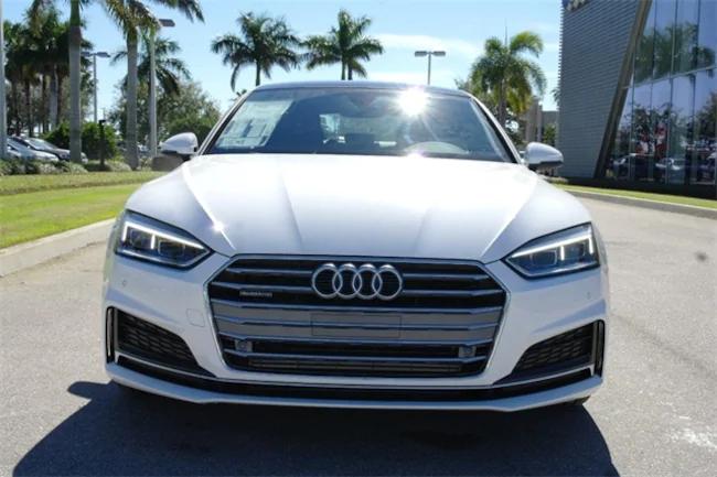 2019 Audi A5 white 1