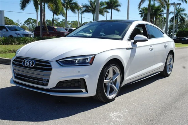 2019 Audi A5 white 2
