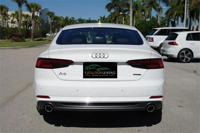 2019 Audi A5 white 4