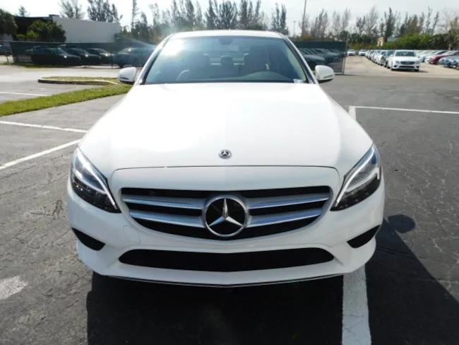 2019 Mercedes C CLASS SEDAN WHITE 1