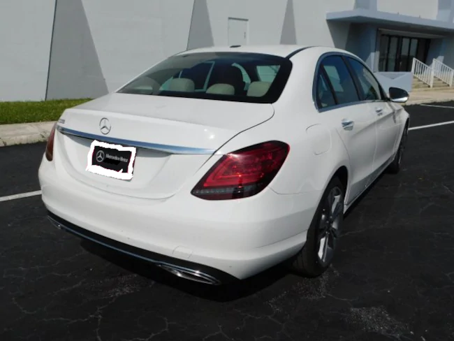 2019 Mercedes C CLASS SEDAN WHITE 4