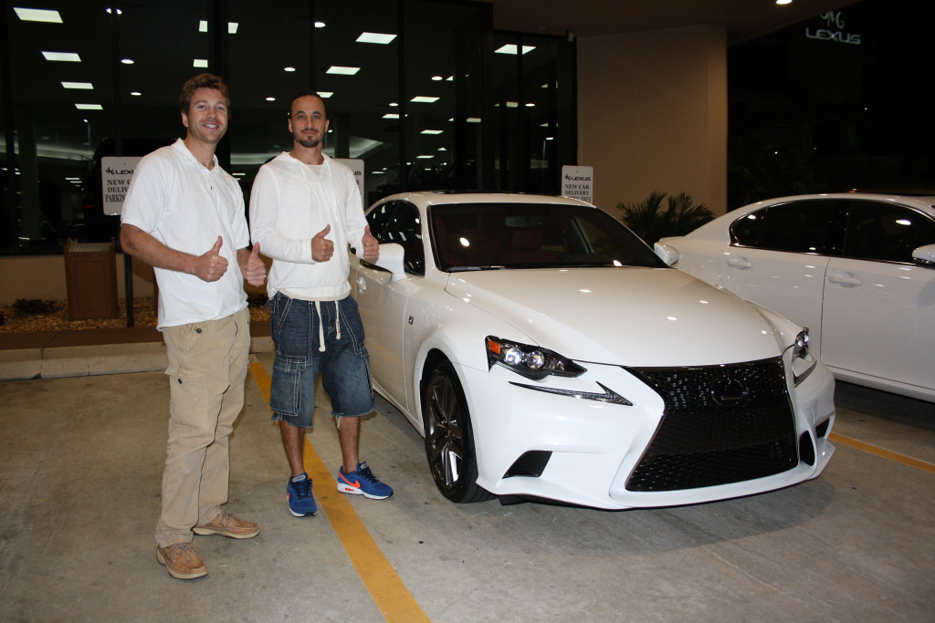 This is a picture from a recent delivery of a White Lexus IS 250 F Sport by Evolution Leasing!