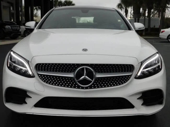 2019 Mercedes C CLASS Coupe white 1