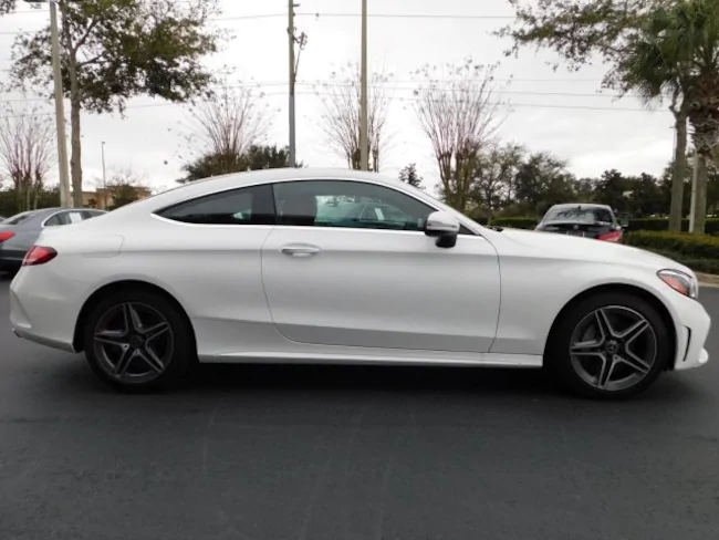 2019 Mercedes C Class Coupe White 3 Evolution Leasing